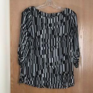 Apt 9 black & white blouse